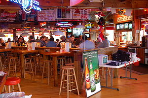 Inside of a Hooters restaurant in Chattanooga,...