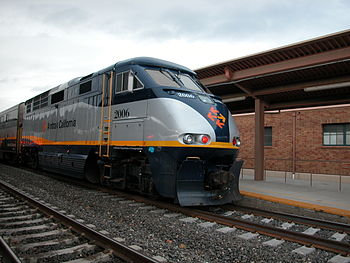 Amtrak California locomotive train.