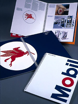 The visual brand identity manual for Mobil Oil...